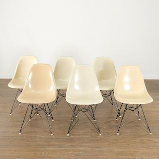 Charles and Ray Eames, (6) ivory DSR chairs