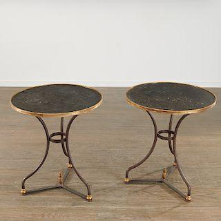 Pair Directoire style gueridons by C. Gaignon