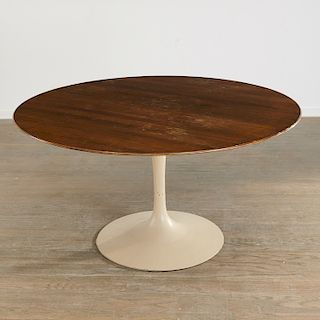 Eero Saarinen, walnut Tulip dining table