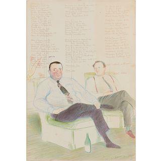David Hockney, lithograph