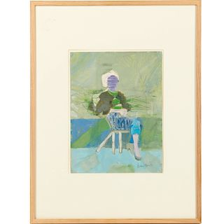Daniel Brustlein, painting, 1990