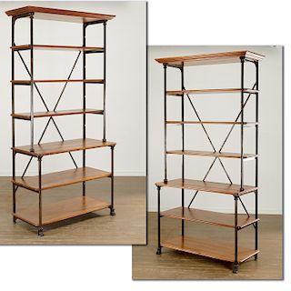 Pair Au Petit Parisienne bookcase etageres