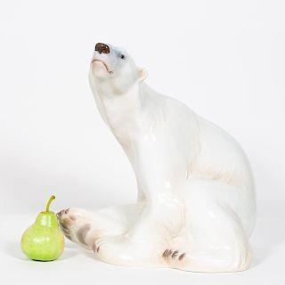 Large Danish Bing & Grondahl Porcelain Polar Bear
