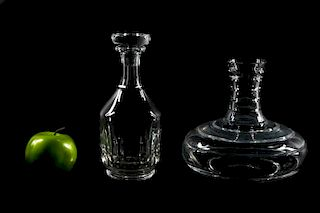 Group of Two Baccarat Crystal Decanters