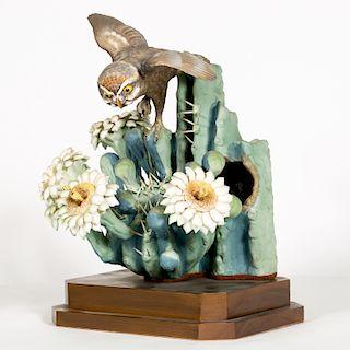 """Dorothy Doughty """"Moonlight"""" of Owl & Saguaro"""