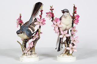 2 Mocking Bird Dorothy Doughty Figurines w/ Boxes