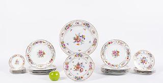 23 pc Rosenthal & Tirschenteuth Floral Dinnerware