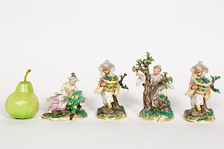 Four, Nymphenburg Chinoiserie Figurines