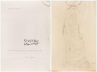 GUSTAV KLIMT. TWENTY-FIVE DRAWINGS SELECTED AND INTERPRETED BY ALICE STROBL, 1964