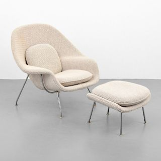 "Eero Saarinen ""Womb"" Chair & Ottoman"