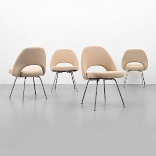 """Eero Saarinen """"Executive Armless"""" Chairs, Set of 4"""