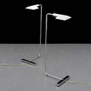 Pair of Cedric Hartman Adjustable Floor Lamps