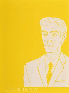 "Alex Katz ""Edwin Denby"" Lithograph, Signed Edition"