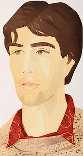 """Alex Katz """"Large Head of Vincent"""" Aquatint, Signed"""
