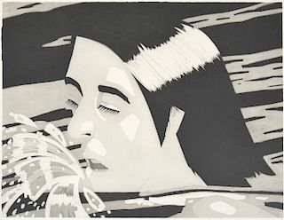 "Alex Katz ""The Swimmer"" Etching, Signed Edition"