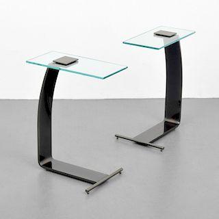 Pair of Design Institute of America (DIA)  Side Tables