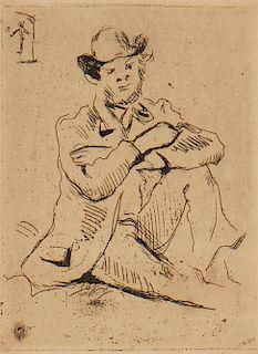 Paul Cezanne, etching, Guilliaumin au Pendu