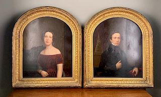 Pair of Mid 19thc. Portraits