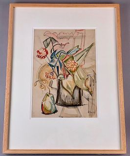William Sommer Watercolor, Still Life
