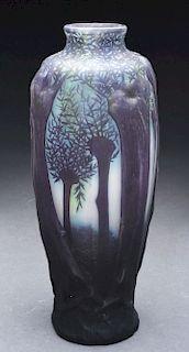 Daum Nancy Mold Blown Scenic Vase.