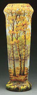 Daum Nancy Cameo and Enameled Vase.