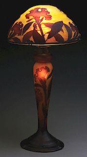 Daum Nancy Cameo Glass Table Lamp.