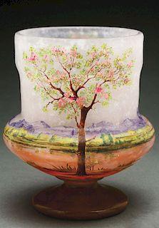 Daum Nancy Scenic Vase.