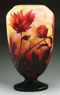 Daum Floral Cameo Vase.