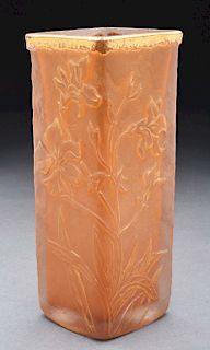 Daum Cameo Gilt Vase.