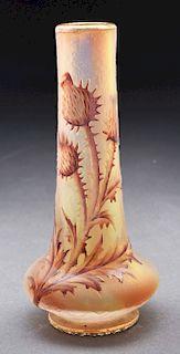 Daum Cameo Thistle Vase.