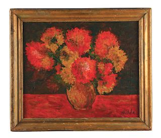ATTRIBUTED TO EMIL NOLDE (German, 1867-1956) STILL LIFE IN RED.