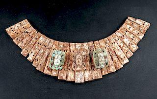Rare & Important Chavin Human Bone & Turquoise Pectoral