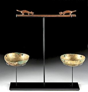 Mochica Loma Negra Wood Balance / Gilded Copper Scale