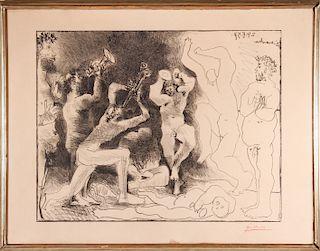 """Pablo Picasso """"La Danse des Faunes"""" Lithograph"""