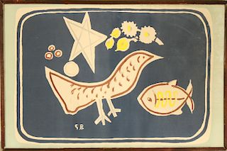 """Georges Braque """"The Bird"""" Color Lithograph"""