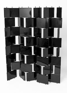 """After Eileen Grey """"Brick"""" Lacquered Folding Screen"""