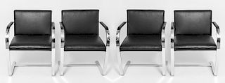 """Mies van der Rohe for Knoll """"Brno"""" Chairs, 4"""