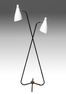 Mid-Century Modern Two-Light Floor Lamp