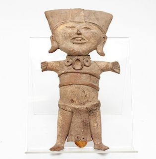 Pre-Columbian Veracruz Terra Cotta Smiling Man