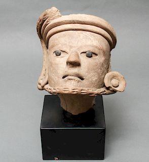 Pre-Columbian Veracruz Mexico Pottery Head