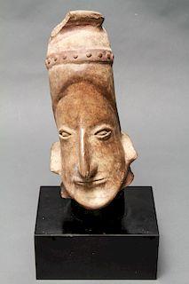 Pre-Columbian Jalisco Mexico Pottery Head