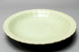 Chinese Large Celadon / Longquan Ware Plate