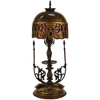 Oscar Bach Bacchus Boudoir Table Lamp w Mica Shade