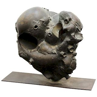 Pablo Serrano Abstract Brutalist Bronze Sculpture
