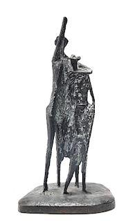 Mid- Century Modern Brutalist Figural Sculpture