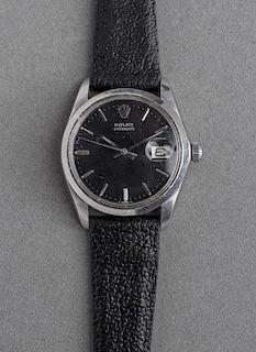 Rolex Oyster Date Stainless Steel Wrist Watch