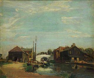 MURRAY, David. Oil on Canvas. River Scene.