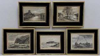 JOHNSTON, Robert B. Set of 5 Scottish Landscapes.