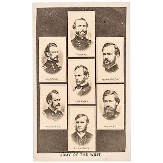 1860s Civil War ARMY OF THE WEST Civil War Carte de Visite Photograph