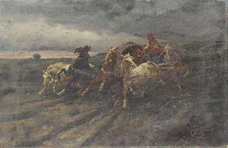BREITH, R. 19th C. Oil on Canvas. Arab Horseman in